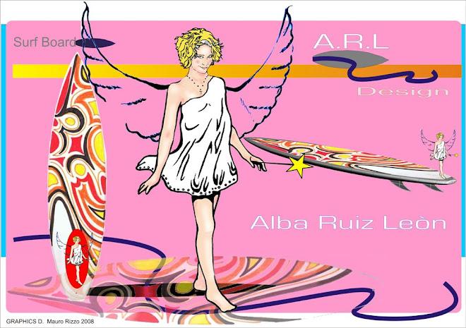 ALBA'S SURF BOARD GRAPHIC DESIGNS