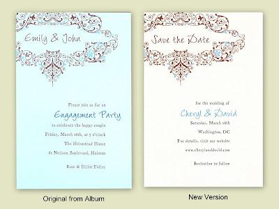 invitation card wedding engaged party stock photo 7864672