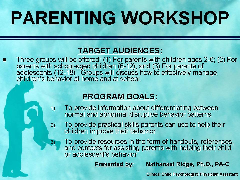southpoint pediatrics  parenting workshops by dr  ridge