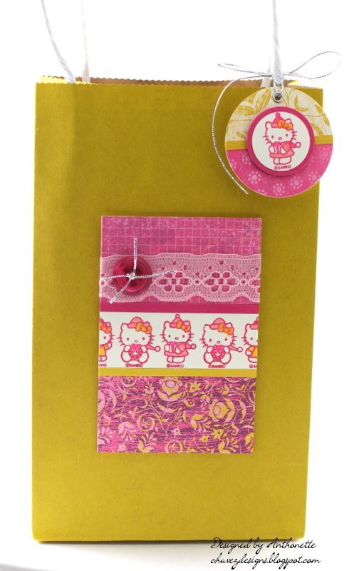 Chavez designs hello kitty gift bag matching tag