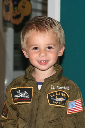 Grandson Oscar Newton