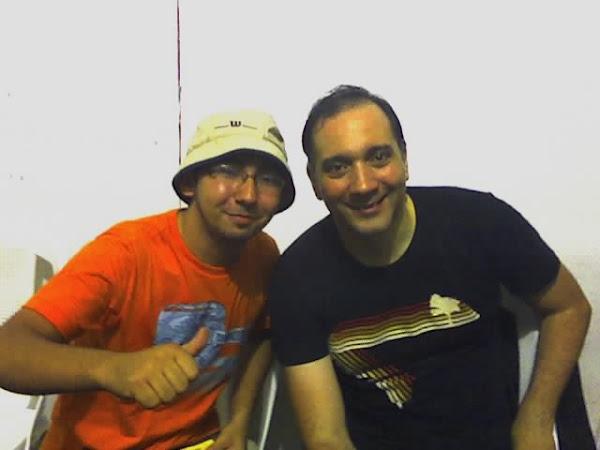 Eu e Bruno Gouveia do Biquini Cavadão