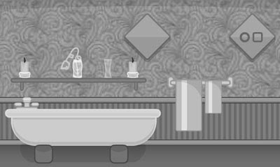 Grayscale Escape: The Bathroom