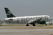 Flight 210 rotates from Rwy 30 at 1109 bound for Denver. (frontier inagural lgb flt may )