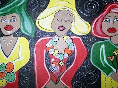 Springtime Bonnets Original Painting