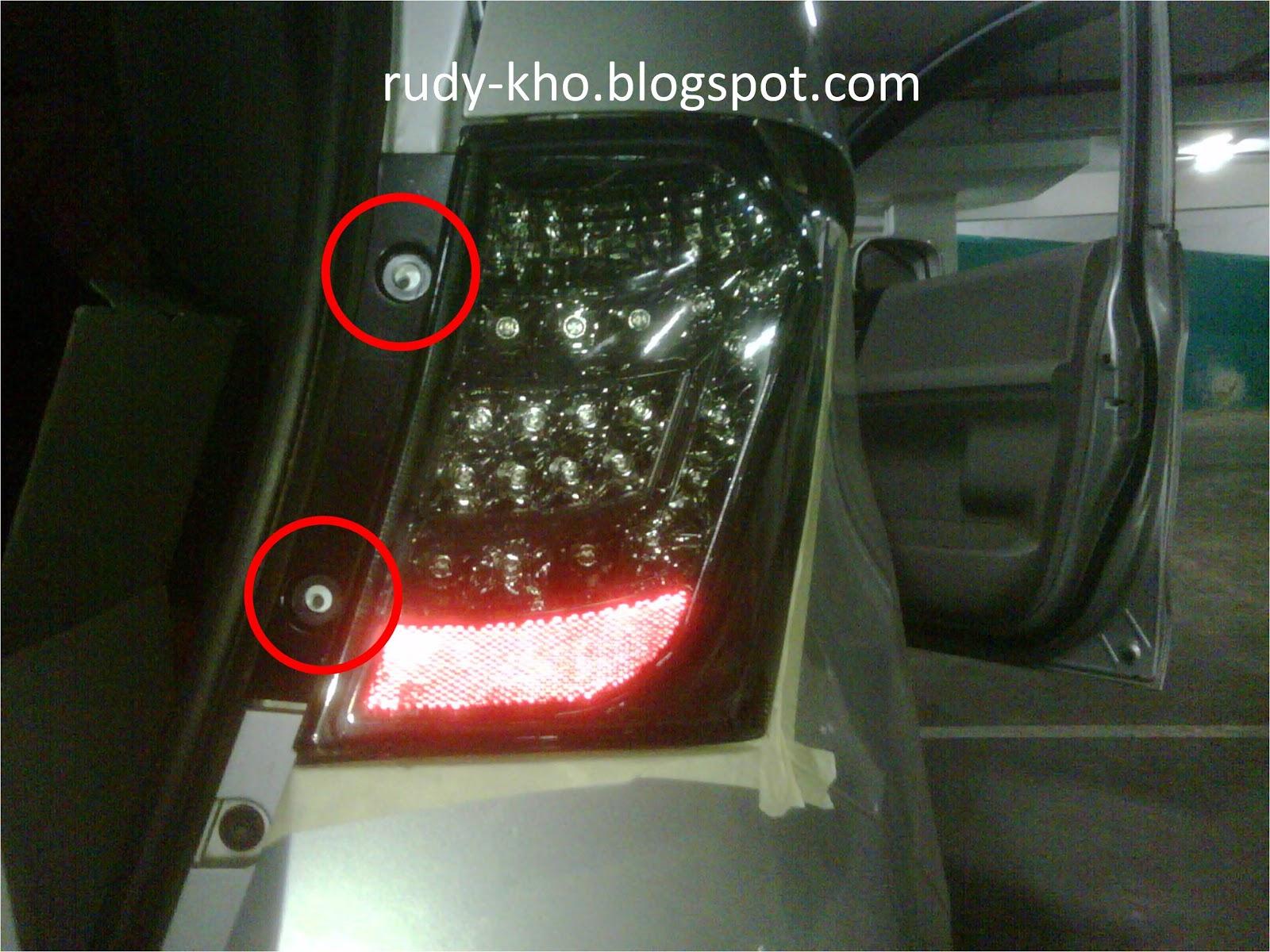 Cara mengganti Tail Lamp (Lampu Belakang) Honda Freed