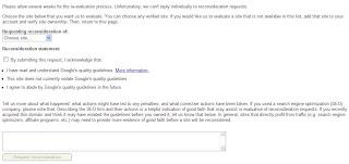 Google Reconsideration Form