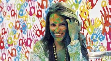 Neha Dhupia celebrates Holi