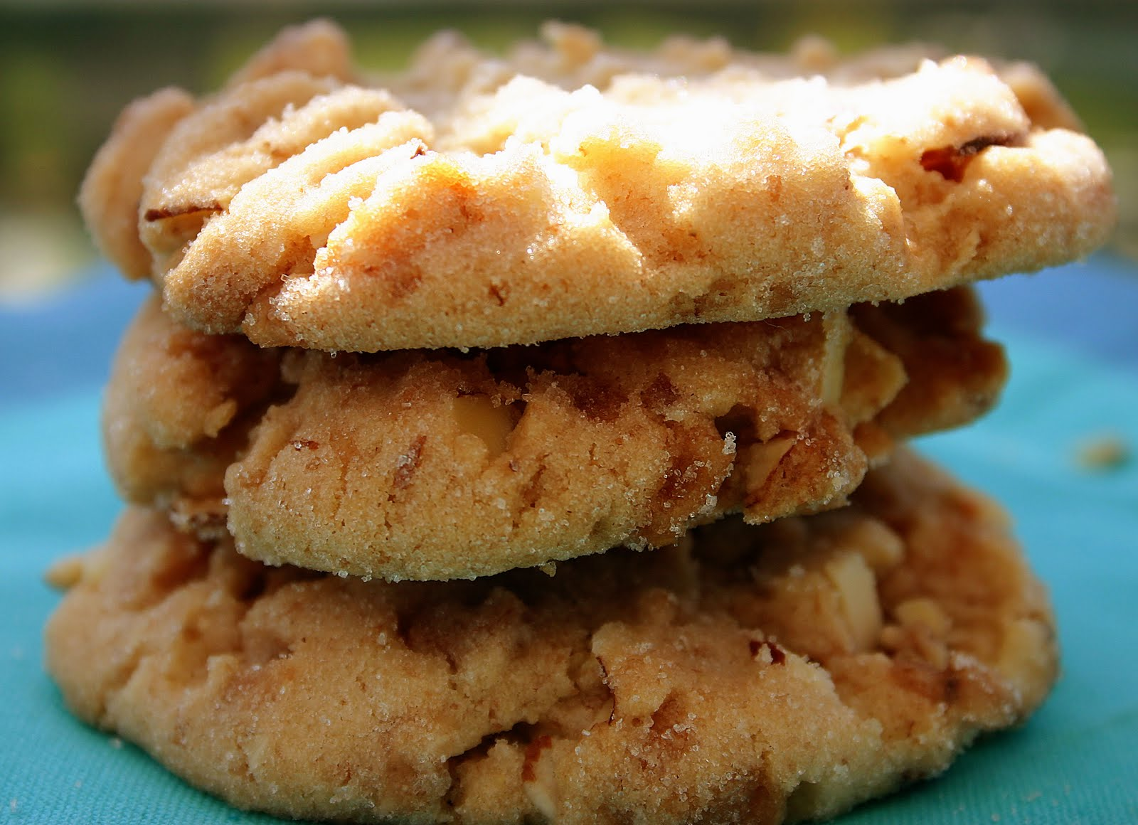 Bakergirl: Not-So-Texan-Sized Almond Crunch Cookies.