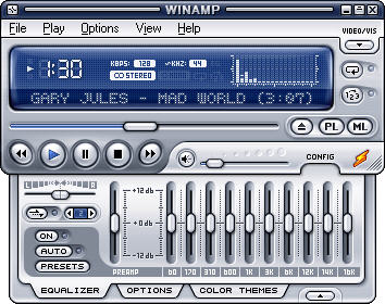 Winamp Media Player freeware screenshot