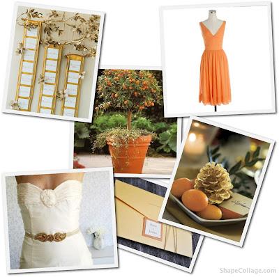 Gold Seating Cards from Martha Stewart Weddings JCrew Silk Chiffon