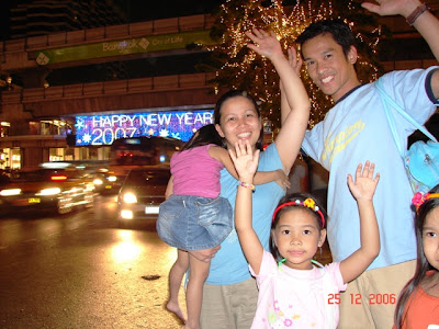 Despite all things, this will be a blessed, happy new year. This was taken in front of Central World during Christmas. A week later the other side of the road almost parallel to this location will be bombed.