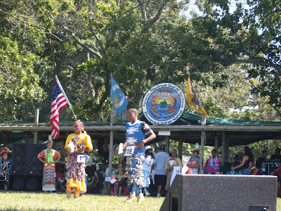 The grand entry will step off daily in majestic form, led by the Shinnecock Nation
