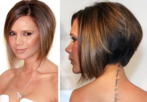 victoria beckham hairstyles back view. Blonde Bob Hairstyle a