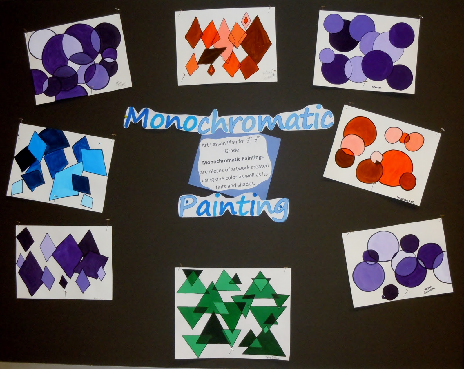 Carrie\'s Arts Spot: Monochromatic Painting 5th-6th Grade Lesson Plan ...