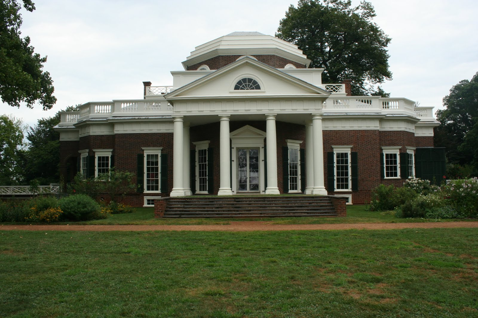 Where has ron roamed monticello for Thomas jefferson house monticello