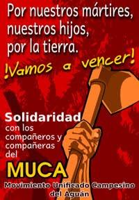 Solidaridad con los campesinos del MUCA