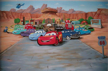 The homeless advisor car stories - Disney pixar cars wall mural ...