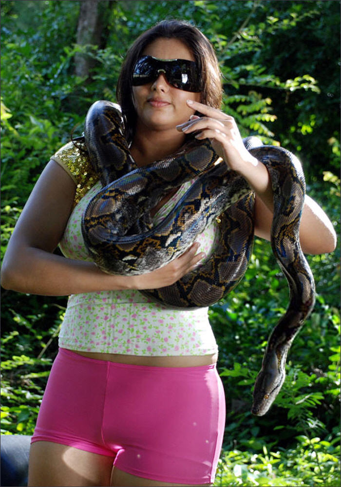 Namitha hot with big snake