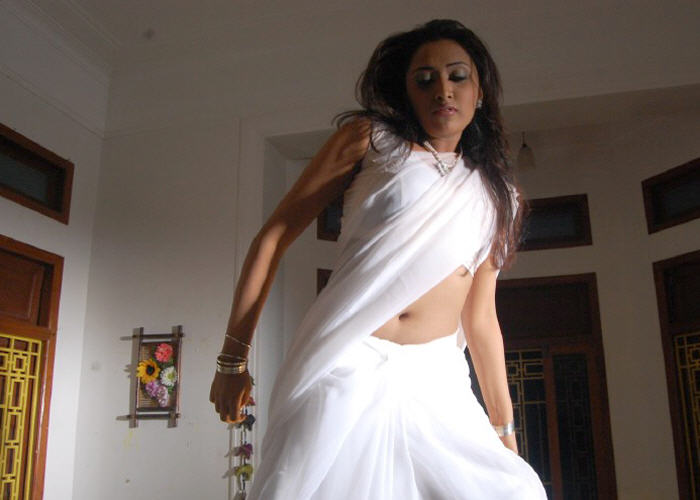 hot meganair masala mallu actress of south in saree navel show