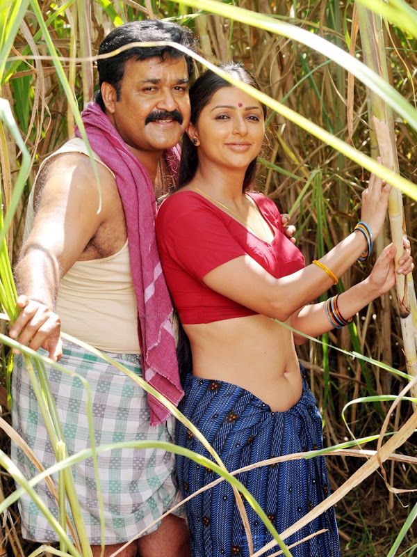 malayalam-superstar-mohanlal-bhumika-chawla-mallu-movie-still