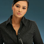 Anupama in Black Dress Cute Photos