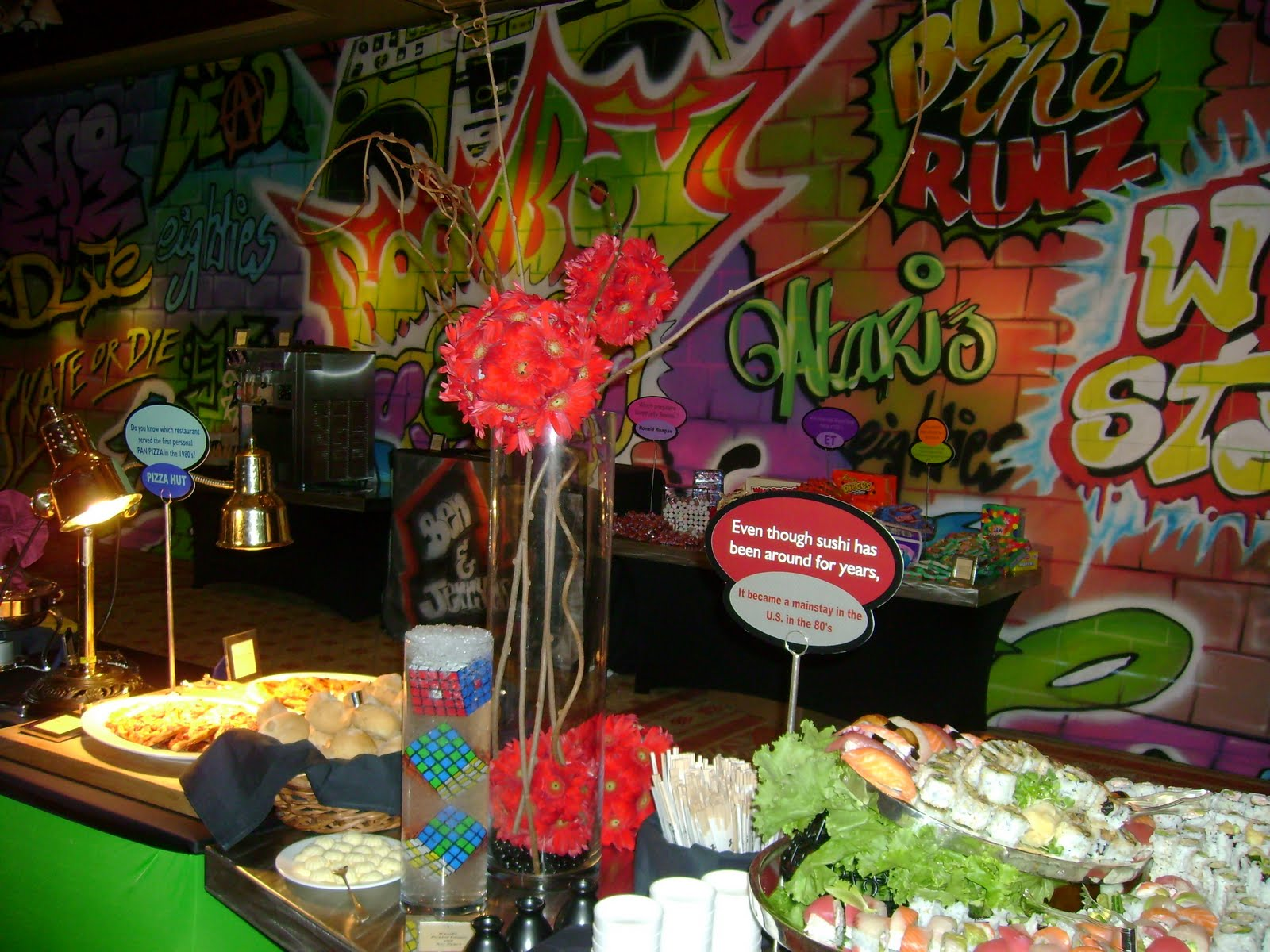 1980 39 s party ideas on pinterest 80s party 80s theme and for 80 s table decoration ideas