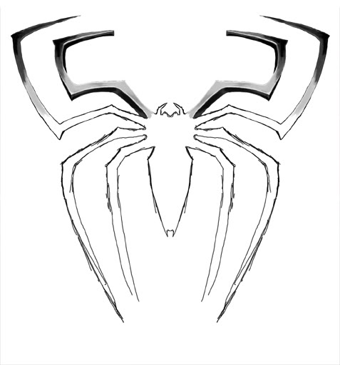 spiderman logo outline wwwpixsharkcom images