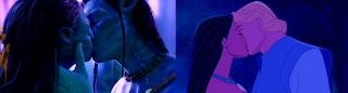 Avatar x Pocahontas - beijo