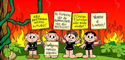Turma da Mônica defende o Código Florestal