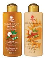 shampoo e condicionador Surya Canela e Cupuaçu, para cabelos tingidos