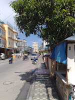 Narrow street of Tanjung Balai. 