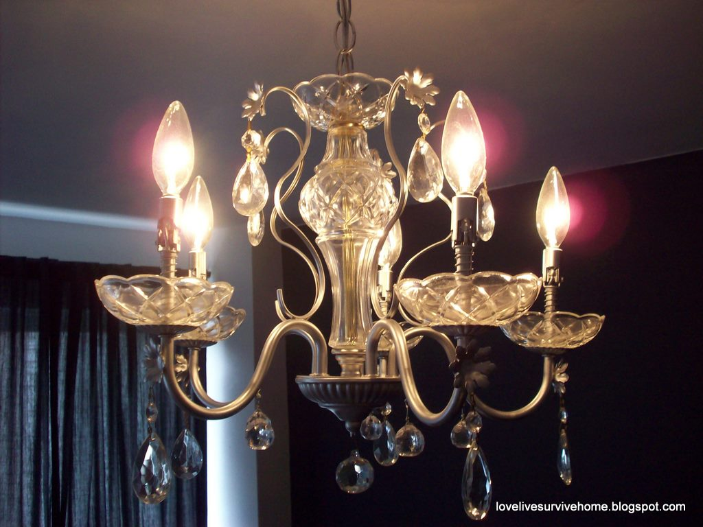 Love Live Survive Home Chandelier Recycled And Saved From