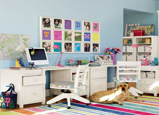 Interior Create: Study Table For Children In The Bedroom