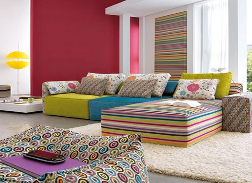 New Home Family Construction Colorful Living Room Color Schemes