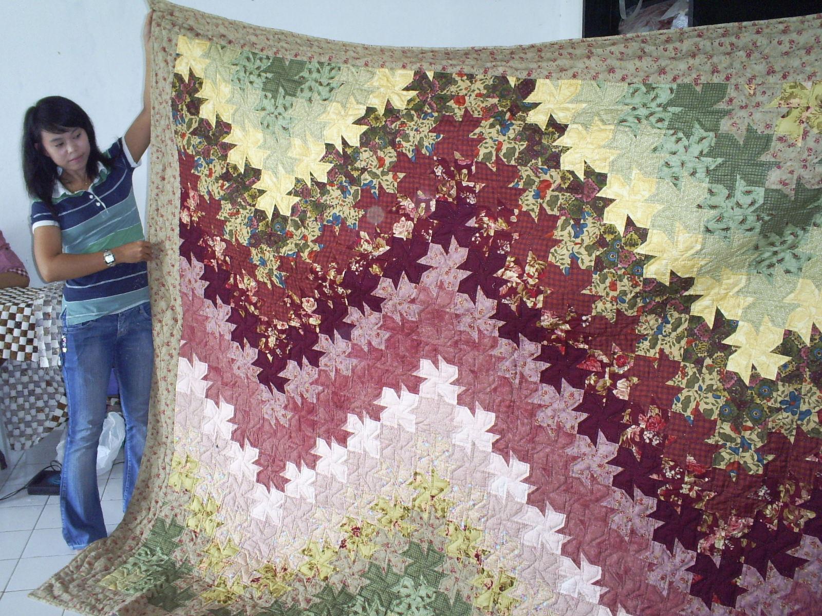 kemandirian serta menjadi yang terbaik dibidang kerajinan kain perca