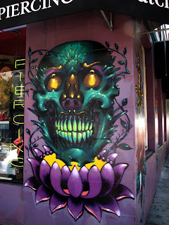 A tattoo shop in Haight-Ashbury