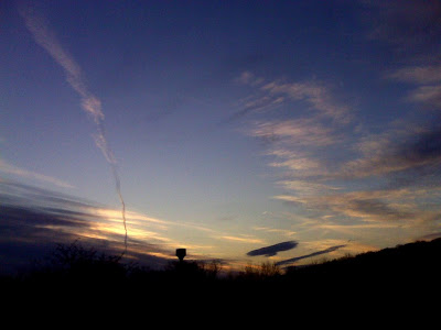 Late-afternoon sky