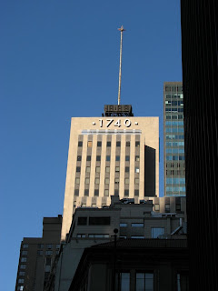New York City building in the sun