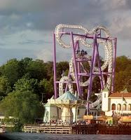 A roller coaster at Gröna Lund