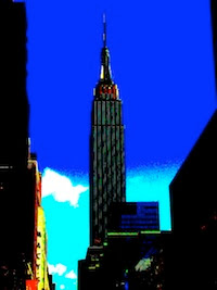 Distorted Empire State Building photo