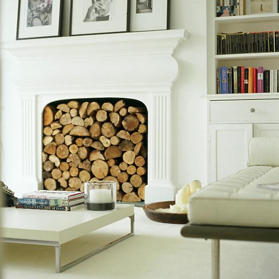 OHMIGOSH! DESIGN BLOG Nonworking Fireplace? No problem!