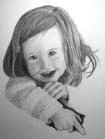 child portrait charcoal drawing step 4