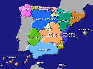 Mapa Espaa Situacin islas Canarias