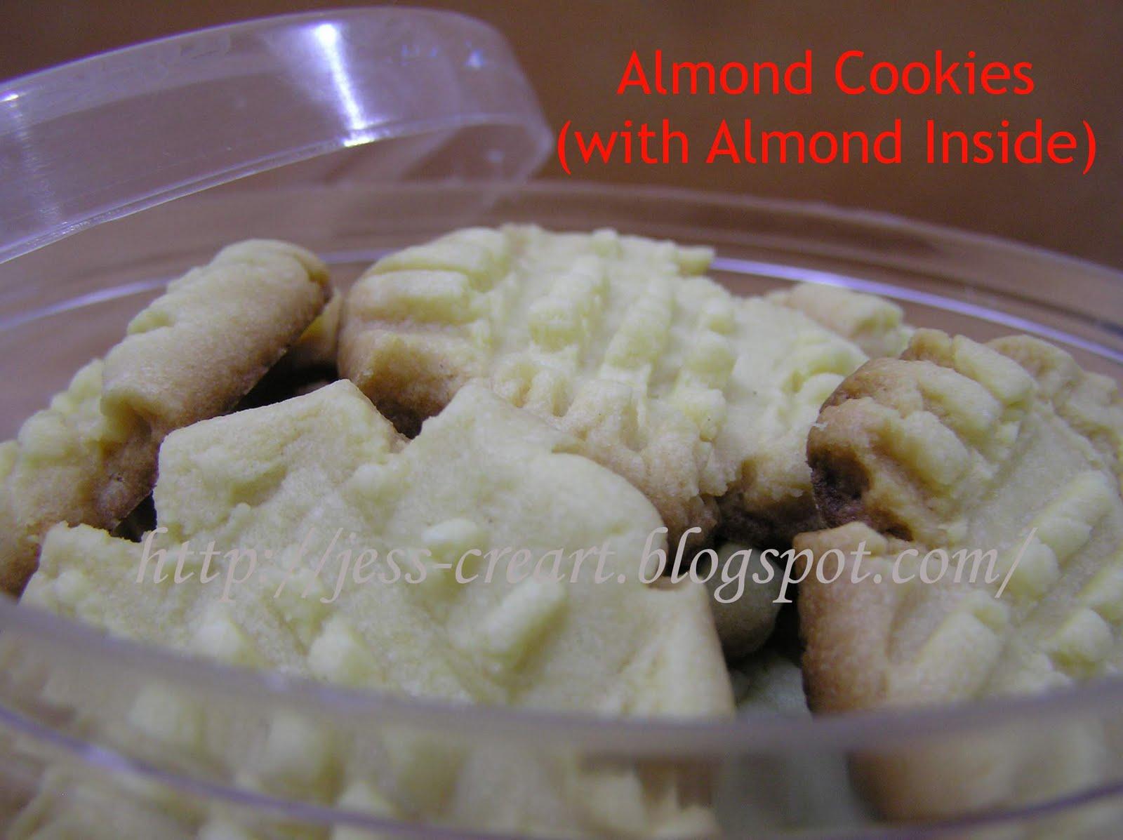Almond Cookies Resep Almond Cookies