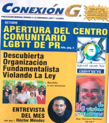 Portada del periódico homosexual Conexión G.