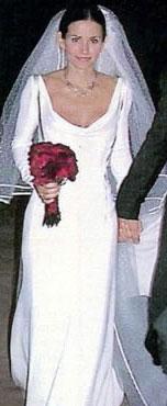 Кортни кокс в свадебном платье