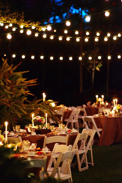 Your Wedding Support: Let there be light - Fairy Lights & Candles Wedding