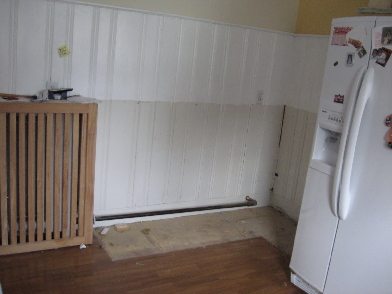 Kitchen Paneling The Kitchen Removing The Paneling The Kim Six Fix