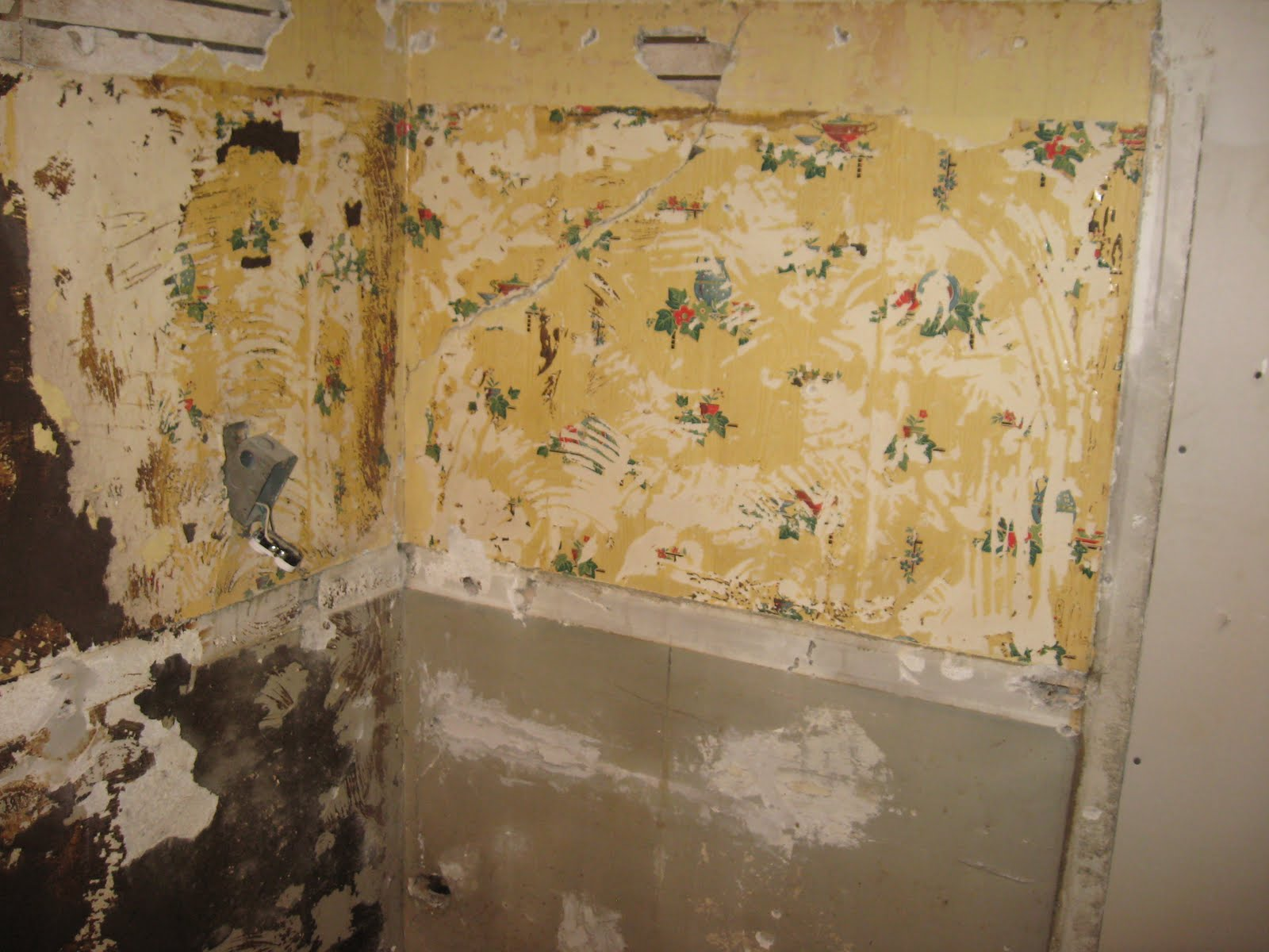 removing wallpaper paste from plaster
